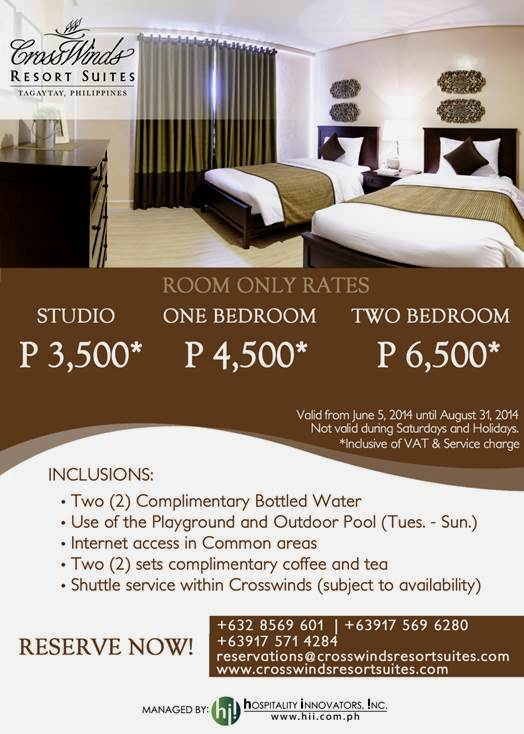 Room Only Promo.June5-Aug 31
